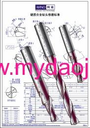 硬质合金钻头修磨标准